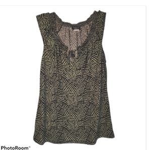 Perception Concept Patterned Tank Top Large L